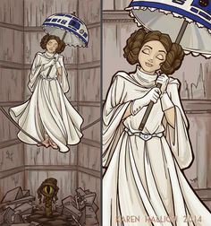 Princess Leia Haunted Mansion mash-up by Karen Hallion