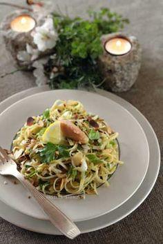 Diane Kochilas shared her take on my linguine with tarama dish.