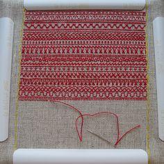 Redwork embroidery sampler, via Flickr.