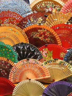 painted fans