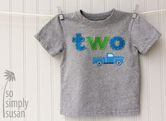 birthday tshirt, birthday shirts, birthday parties, little blue truck party, little blue truck birthday, 2 birthday boy, first birthdays, 1st birthdays, 2nd birthday shirt boy