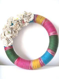 holiday wreaths, flower wreath, jewel tones, wreath jewel, season holiday, paper flowers, holidays, papers, tone holiday