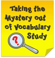 Corkboard Connections: Taking the Mystery out of Vocabulary Study - Two freebies and a fun game to help students build vocabulary skills.