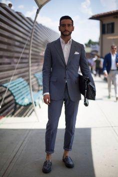 suit + no socks
