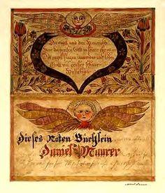 Fraktur with angels