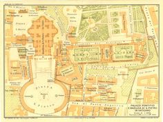 1933 Vatican City Plan St Peter Basilica Square