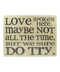 Another great find on #zulily! 'Love Spoken Here' Wall Art by Blossom Bucket #zulilyfinds