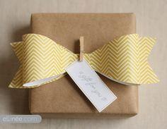 pretty paper bow