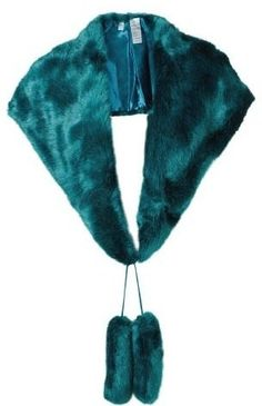 teal fur stole