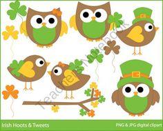 Irish Hoots & Tweets Clipart product from Digital-Bake-Shop on TeachersNotebook.com