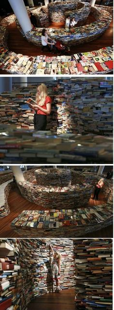 Lose yourself in books. Book maze.