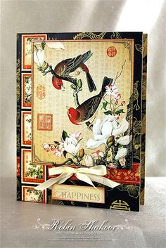 Asian themed card...from gorgeous Graphic 45 papers...luv it!!!