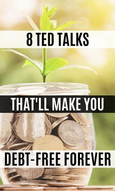 These financial TED talks contain great money saving tips on becoming debt free! I'm happy I found these money TED talks that will change your life! Now I have some great money tips and ways to become financially free. #TEDTalks #MoneySavingTips #DebtFree #Money