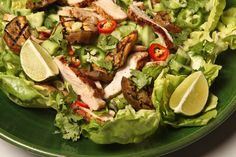 Recipe: Grilled Sesame Chicken and Eggplant Salad || Photo: Fred R. Conrad/The New York Times
