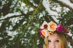 Fun and Flirty Floral Crown Winter Wedding Inspiration - Fab You Bliss