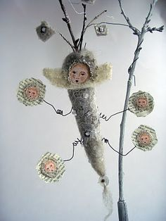 An unusual art doll