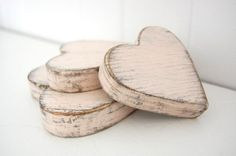 Valentine's hearts. pink. wood. shabby.