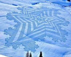 Snow Art by Simon Beck