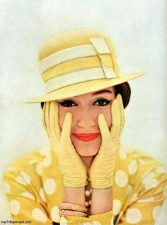 vintage yellow hat