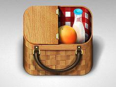 Picnic Basket #icon #dribbble http://drbl.in/eeYS
