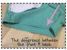 my thrifty chic: DIY Cut off Shorts + Asymmetrical Hem