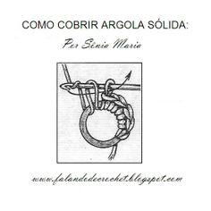 CROCHÊ - PEGADOR DE PANELAS EM PONTO BAIXO DOBRADO