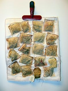"""Textile Art Quilts by Lynn In California: """"Tea Anyone?"""" and """"Spilling Over"""" art journal quilts"""