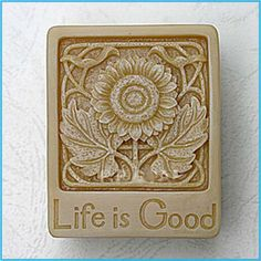 life is good sunflower silicone soap mold