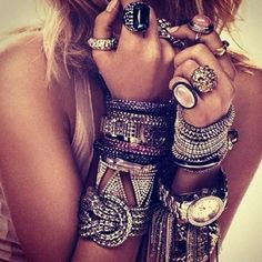 accessories inspiration: #accessories #bohemian #boho #fashion #rings #style #vintage