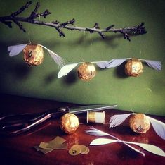 Home made Harry Potter Golden Snitch Advent Calendar