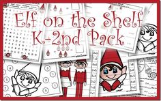 Elf on the Shelf Printable Pack for Kindergaren, 1st, and 2nd Grade