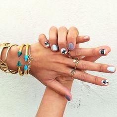 The cutest Coachella nails on @Aimee Song