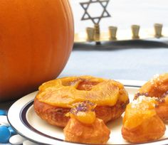 Pumpkin-glazed cronuts recipe for Thanksgivukkah