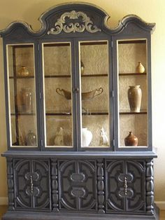 Abe China cabinet after...I kind of like this gray too china cabinets