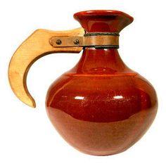Mid Century Red Bauer Pitcher Ceramic Pitcher  @flea_pop