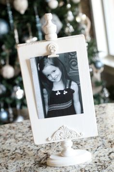 Photo (Recipe) Display Tutorial by Shanty 2 Chic - great gift idea! Paint white, or black and distress,  turquoise for a color kick, or yellow for bright and sunny. tutorials, craft, wood, gift ideas, photo displays, photo holders, picture frames, diy, christmas gifts