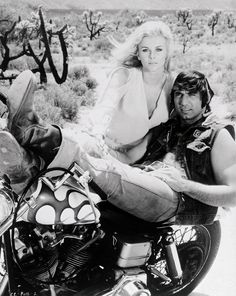 Ann Margaret - Joe Namath - woman retro motorcycle - sweet ride