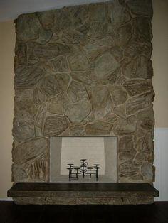Fireplace Mantel On Pinterest Fireplace Surrounds Stone Fireplaces And Mantels