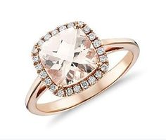 rose gold ring. but with a circle cut diamond