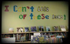 Lego library bulletin board