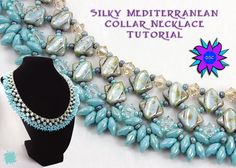 Silky Diamond Collar Necklace Tutorial Two by DesertStarCreations, $7.00