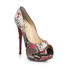 """Shoe du Jour"" 11.17.14 Christian Louboutin ""Lady Graffiti"" Python Platform Pumps « Shoefessional"