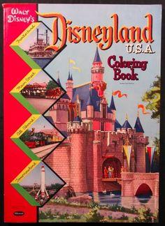 Disneyland U.S.A. Coloring Book, 1957