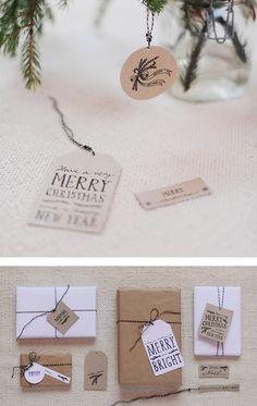 Free Printable Christmas Gift Tags http://studio.heylook.fi/freebies/handmadetags.pdf