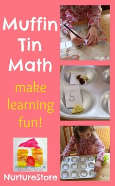 Muffin tin math: love this! A simple, fun math game that's great for kids learning to recognize numbers and learning to count.