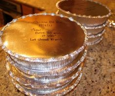Chicken pot pie recipe for freezer and compassionate service meals.