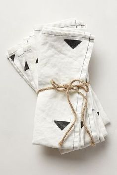 carets black & white napkin set / anthropologie