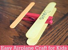 Easy Airplane Craft For Kids