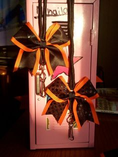 mini cheer bow lanyard by BragAboutItCheerBows on Etsy, $6.00