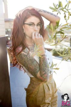 ink art, tattoo women, red hair, tattoos, sleev, glass, tattoo girl, suicid girl, tattoo ink